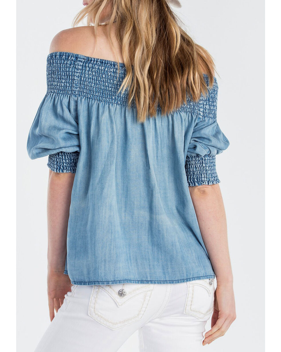 Miss Me Women's Just Slaying Off The Shoulder Top, , hi-res