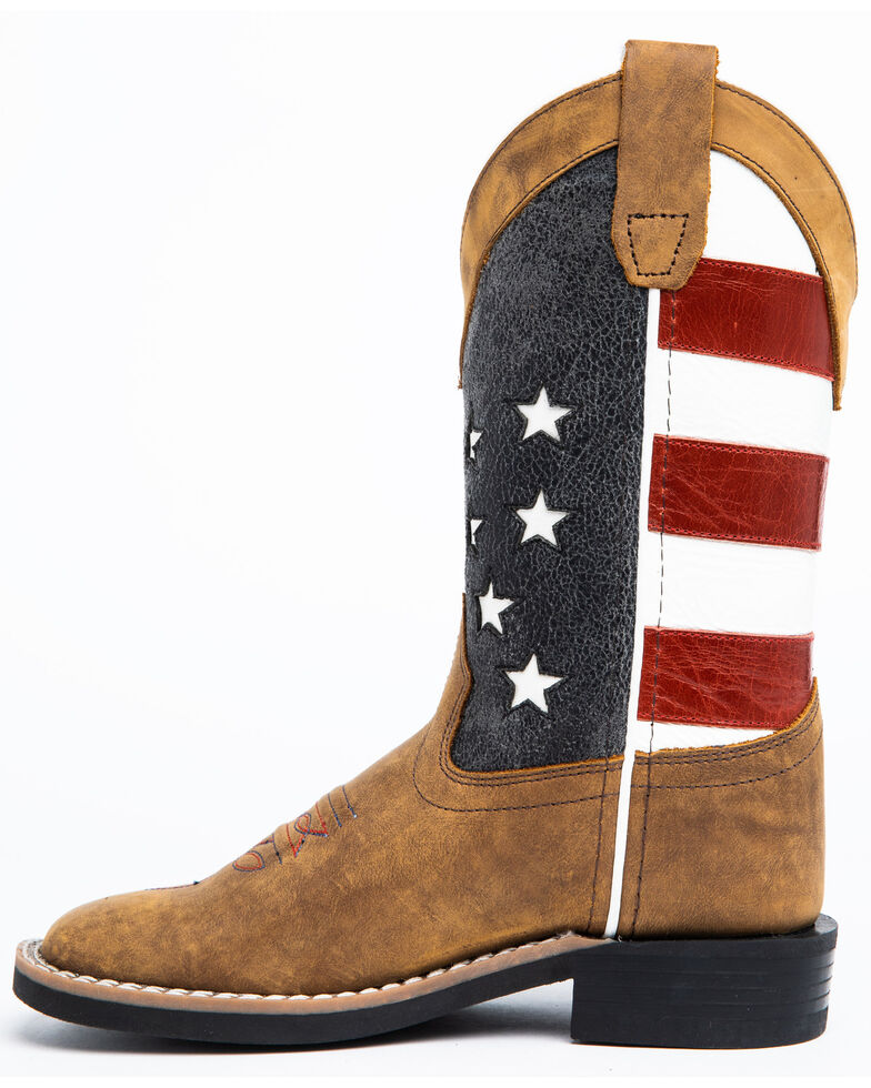 Cody James Youth Boys' American Flag Western Boots - Square Toe, , hi-res