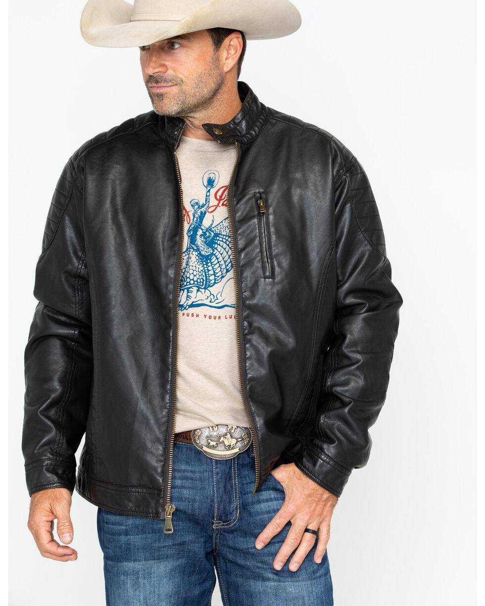 Cody James® Men's Devils Bend Faux Leather Jacket , Brown, hi-res