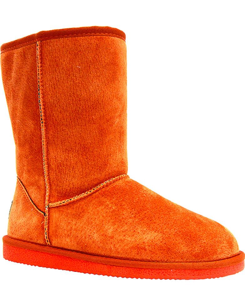 "Lamo Women's 9"" Classic Suede Boots, Orange, hi-res"