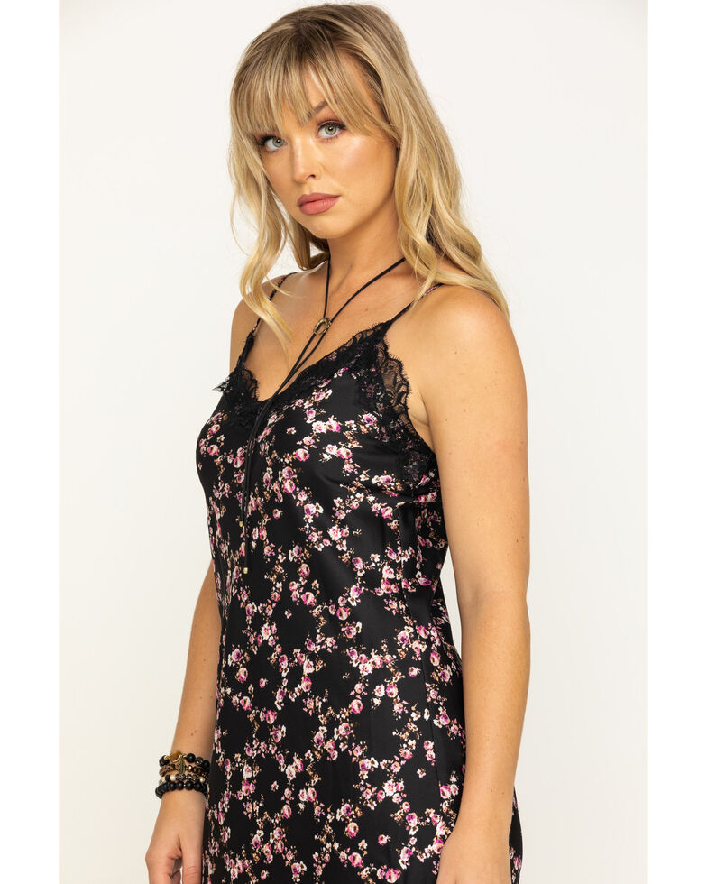 Eyeshadow Women's Lace Floral Midi Dress, , hi-res