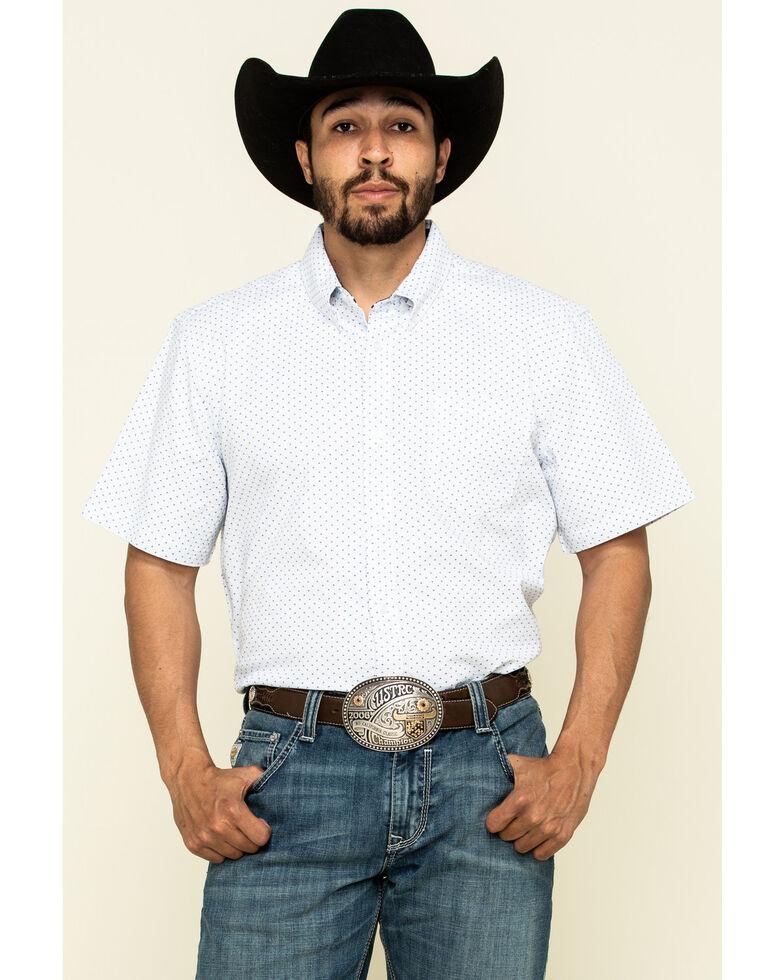 Cody James Core Men's Crossroads Geo Print Short Sleeve Western Shirt - Big , White, hi-res