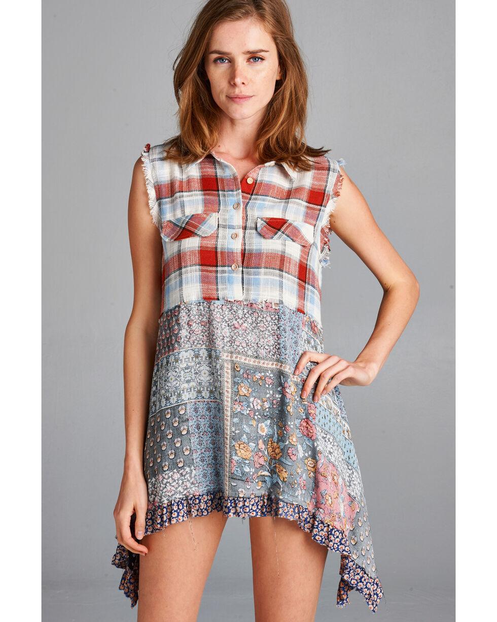 Hyku Women's Russet Plaid Mix Print Shirt , Russet, hi-res