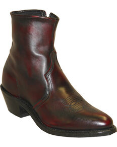"Sage Boots by Abilene Men's 7"" Western Zip Boots, Black Cherry, hi-res"