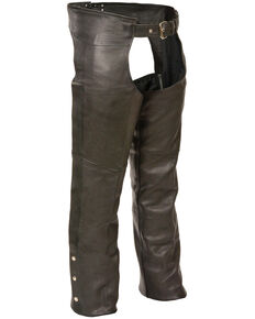 Milwaukee Leather Men's Fully Lined Classic Chaps , Black, hi-res