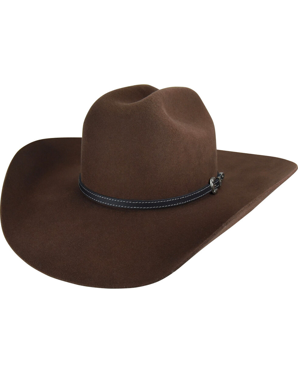 Bailey Men's Pecan Traveller 2X Wool Felt Cowboy Hat , Pecan, hi-res