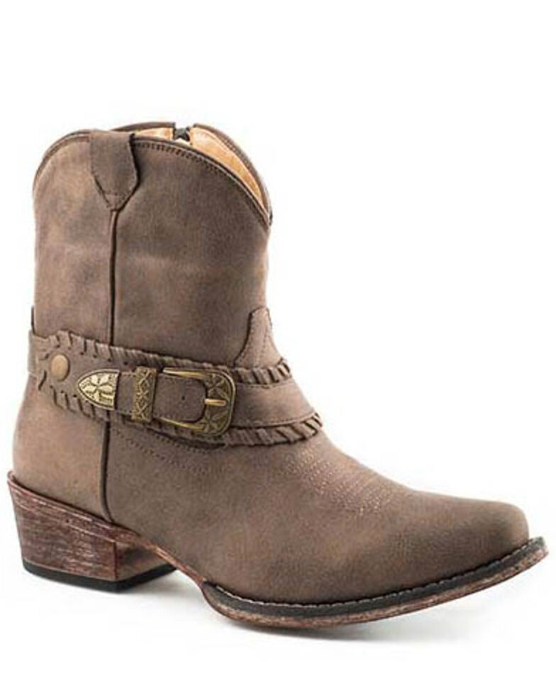 Roper Women's Nelly Fashion Booties - Snip Toe, Brown, hi-res