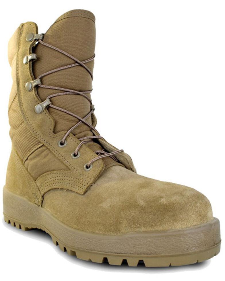 McRae Men's Mil-Spec Hot Weather Boots - Steel Toe, Coyote, hi-res