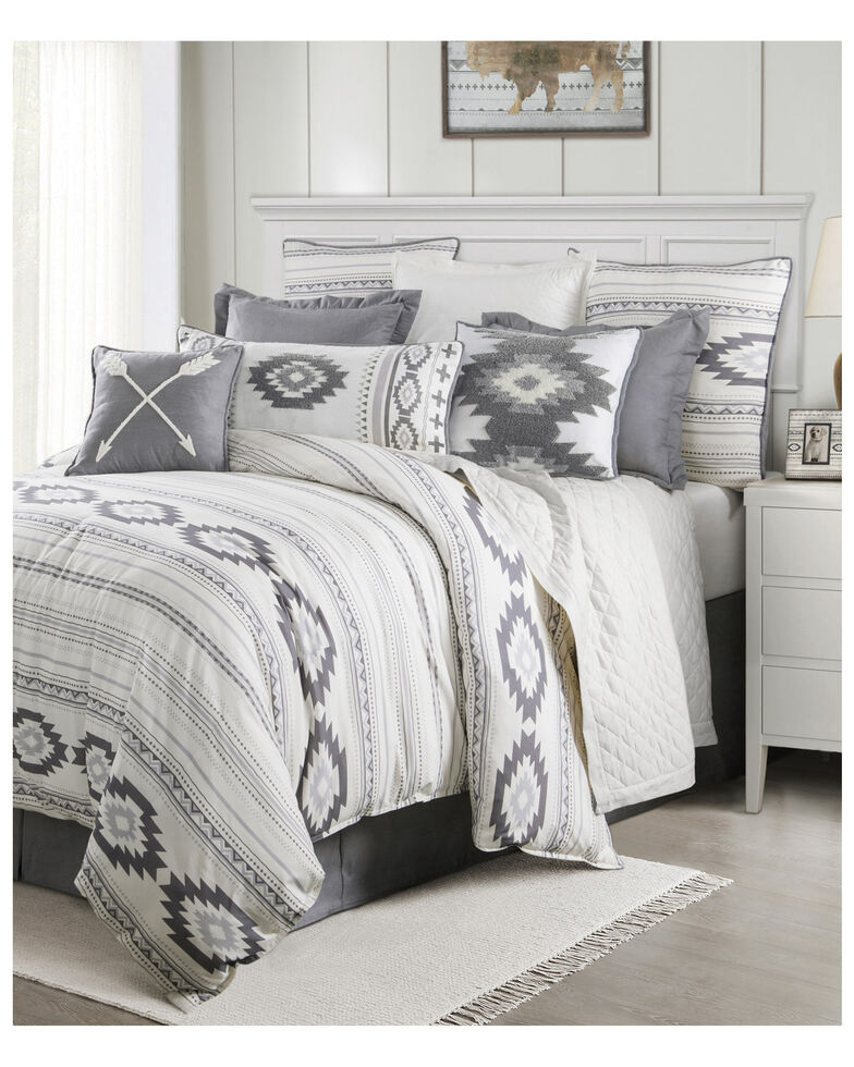 HiEnd Accents Free Spirit Full Bedding Set, Grey, hi-res