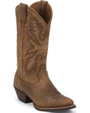 Justin Women's Silver Western Boots, Tan, hi-res
