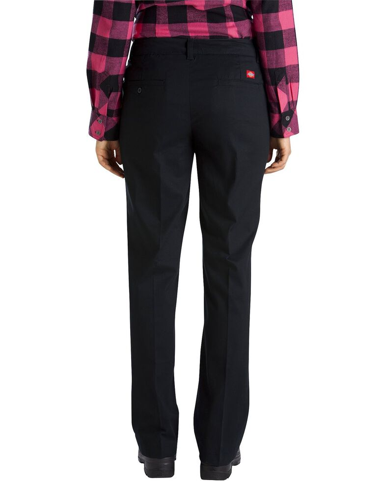 Dickies Women's Relaxed Stretch Twill Pants, Black, hi-res