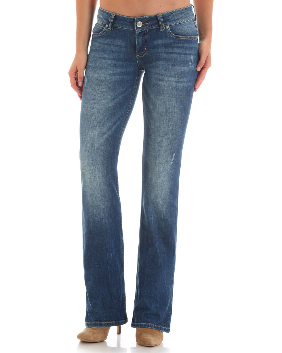 Wrangler Women's Medium Wash Retro Sadie Jeans , Indigo, hi-res