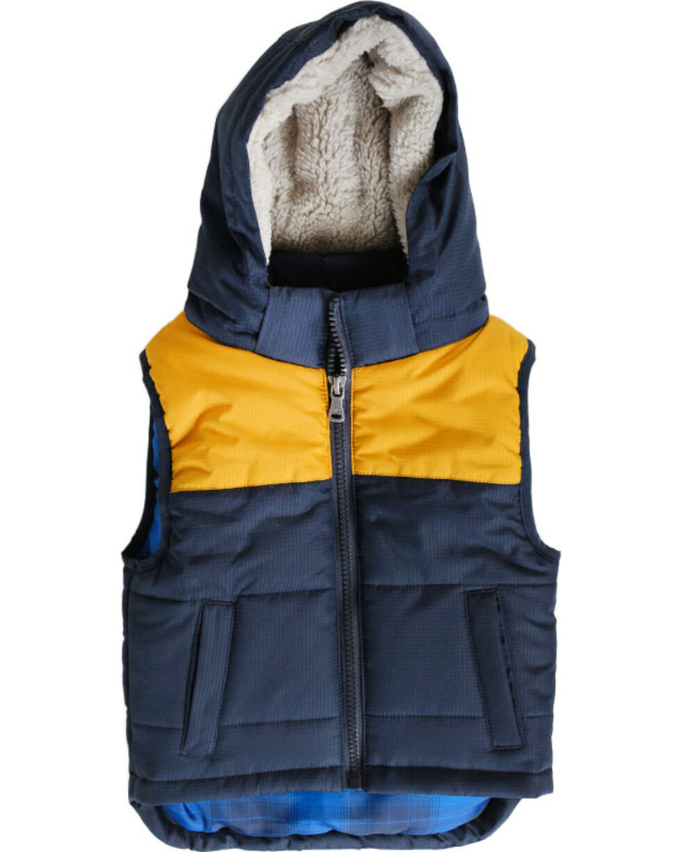 Cody James®  Toddler Boys' Hooded Puffer Vest, Navy, hi-res