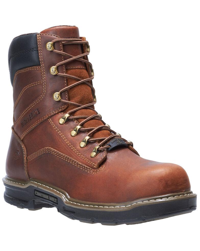 Wolverine Men's Raider II Work Boots - Composite Toe, Distressed Brown, hi-res