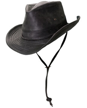 Cody James Men's Outback Weathered Sun Hat, Black, hi-res