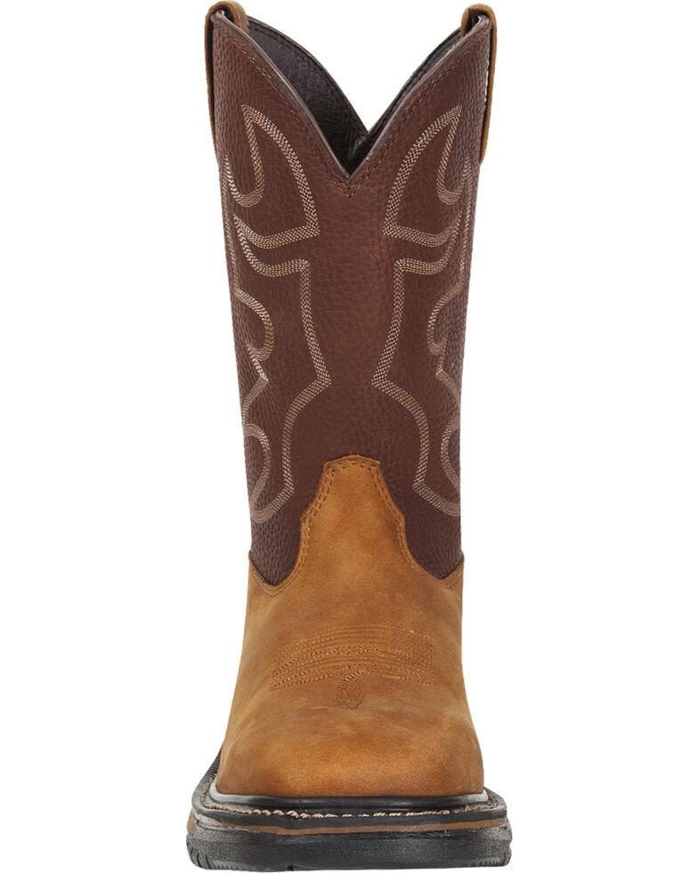 Rocky Men's Original Ride Western Boots - Steel Toe, Brown, hi-res