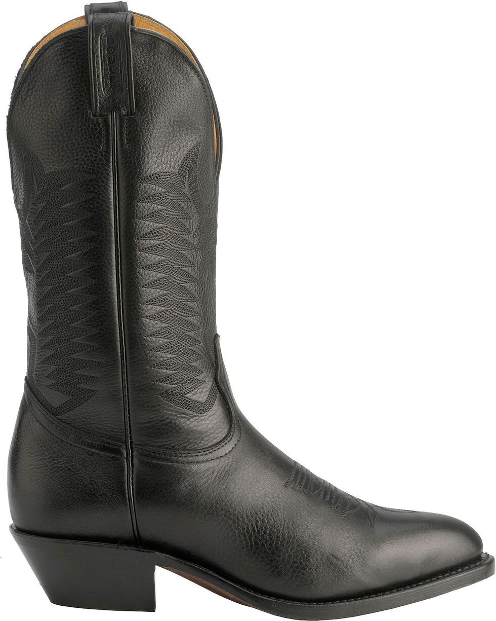 "Boulet Men's 13"" Medium Cowboy Toe Western Boots, Black, hi-res"