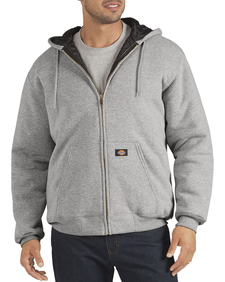 Dickies Heavyweight Quilted Fleece Zip-Up Hoodie - Big & Tall, Hthr Grey, hi-res