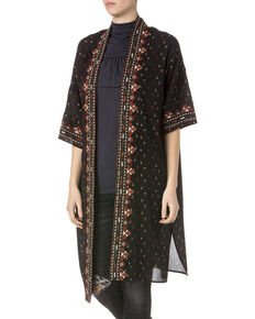 Miss Me Women's Embroidered Kimono , Multi, hi-res