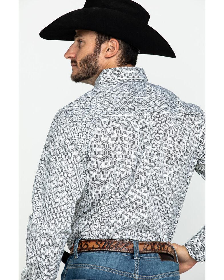 Wrangler 20X Men's Box Geo Print Performance Long Sleeve Western Shirt , Black/white, hi-res