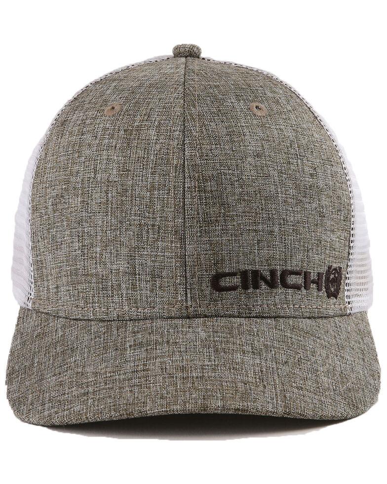 Cinch Men's Grey Trucker Ball Cap , Grey, hi-res