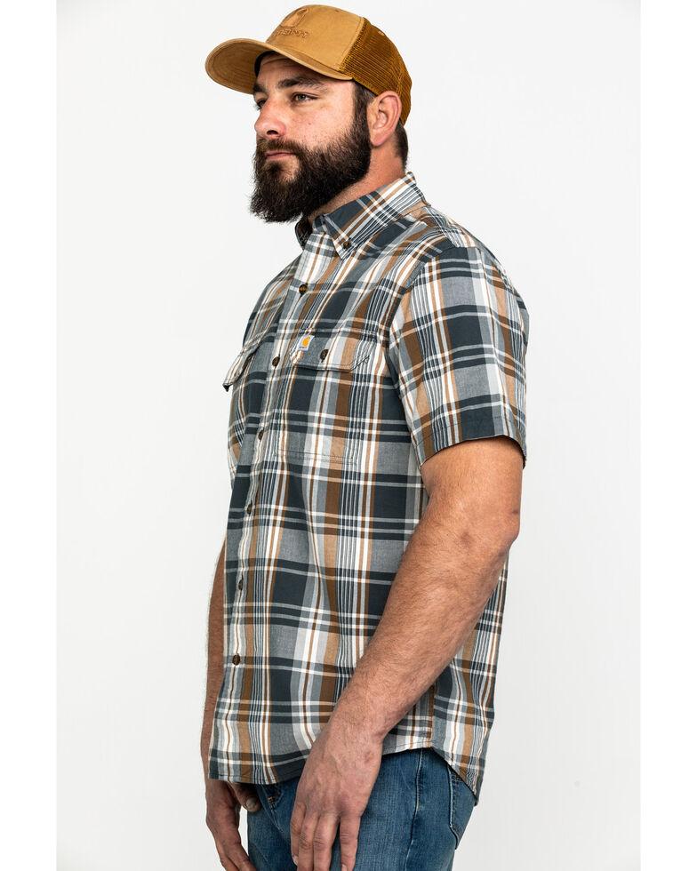 Carhartt Men's Fort Plaid Long-Sleeve Work Shirt , Grey, hi-res