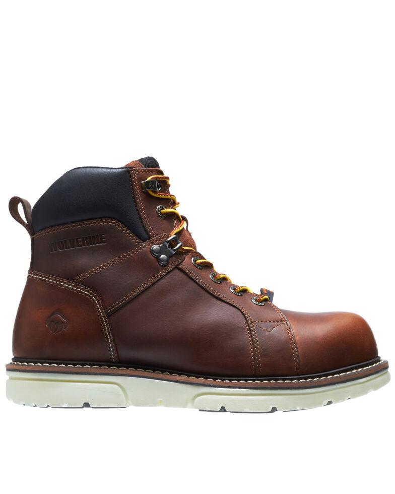 "Wolverine Men's I-90 Durashocks 6"" Wedge Work Boots - Soft Toe, Brown, hi-res"