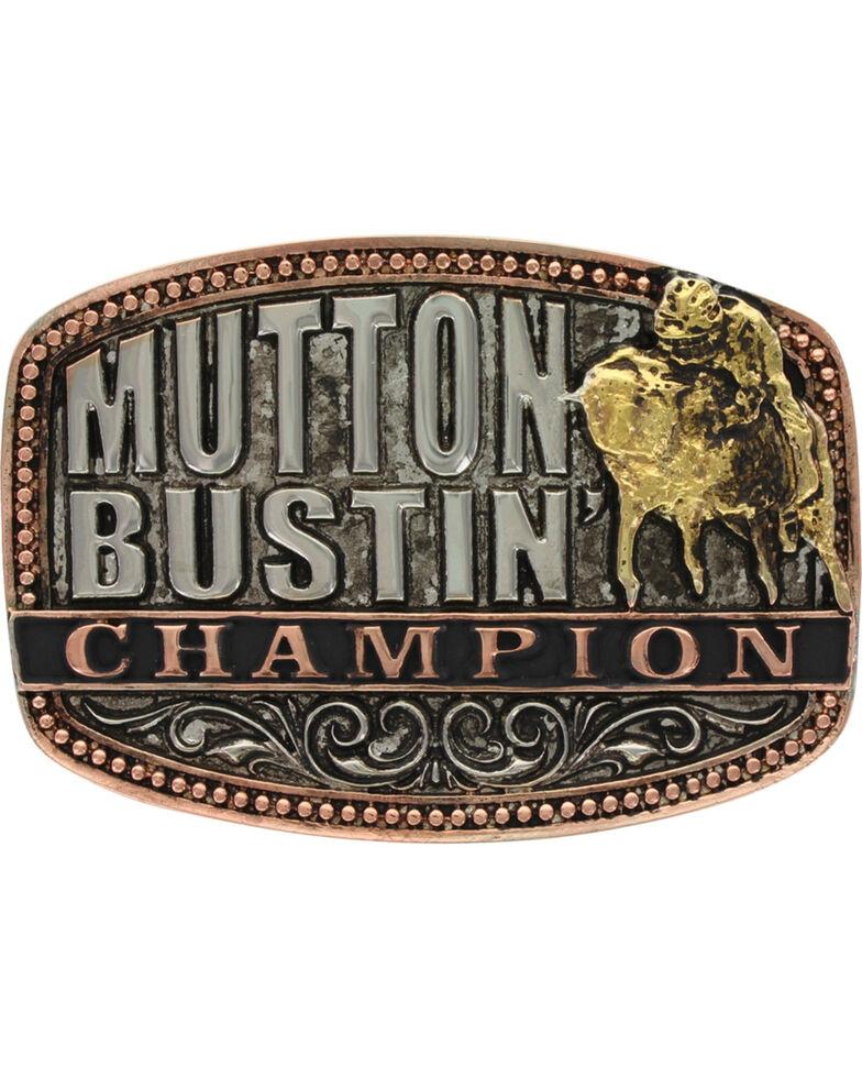 Montana Silversmiths Kids' Little Attitude Mutton Bustin Champion Belt Buckle, Multi, hi-res