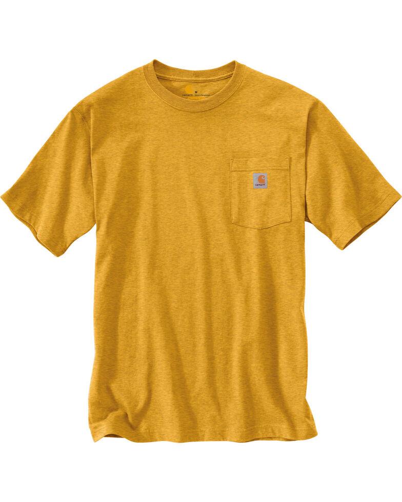Carhartt Short Sleeve Pocket Work T-Shirt - Big & Tall, Gold, hi-res