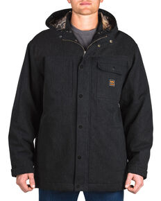 Walls Men's Cactus Hooded Realtree Camo Work Parka , Black, hi-res