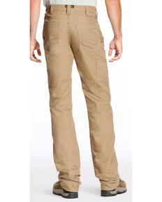 Ariat Men's Rebar M4 Stretch Canvas Utility Straight Leg Pants - Big, Beige/khaki, hi-res