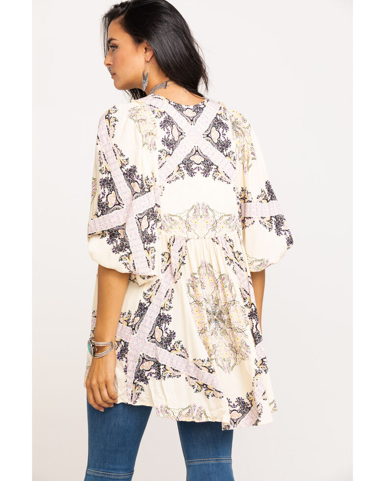 Free People Women's Girl Talk Tunic, Ivory, hi-res
