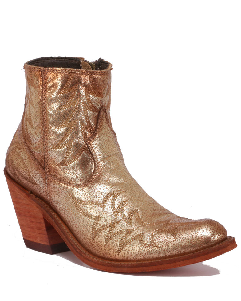 Liberty Black Women's Rose Gold Fashion Booties - Round Toe, Rose, hi-res