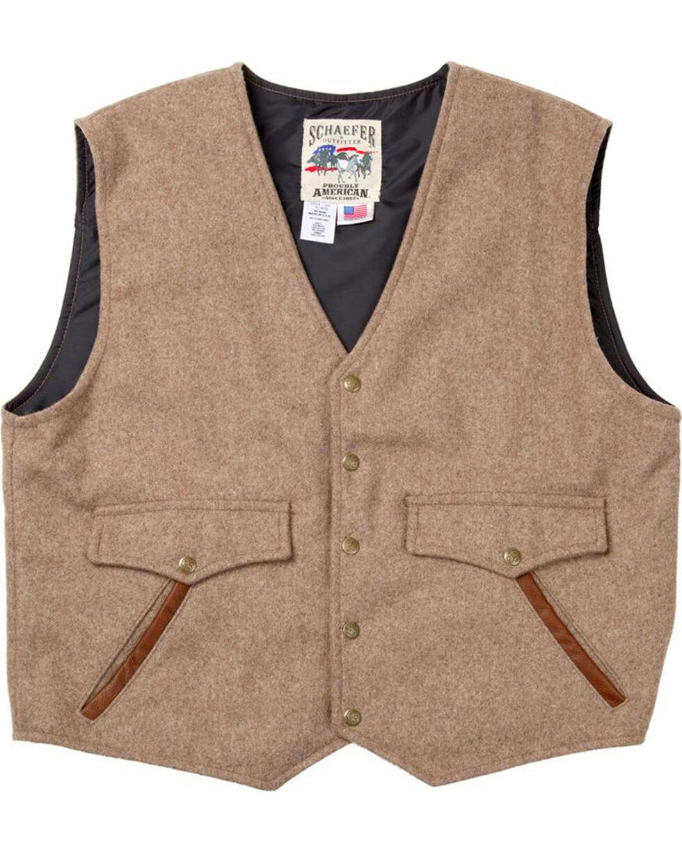 Schaefer Outfitter Men's Taupe Stockman Melton Wool Vest - XLT, Taupe, hi-res