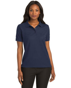 Port Authority Women's Navy Silk Touch Polo, Navy, hi-res