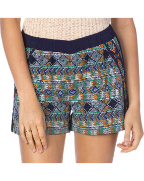 Miss Me Women's Desert Oasis Shorts, Navy, hi-res