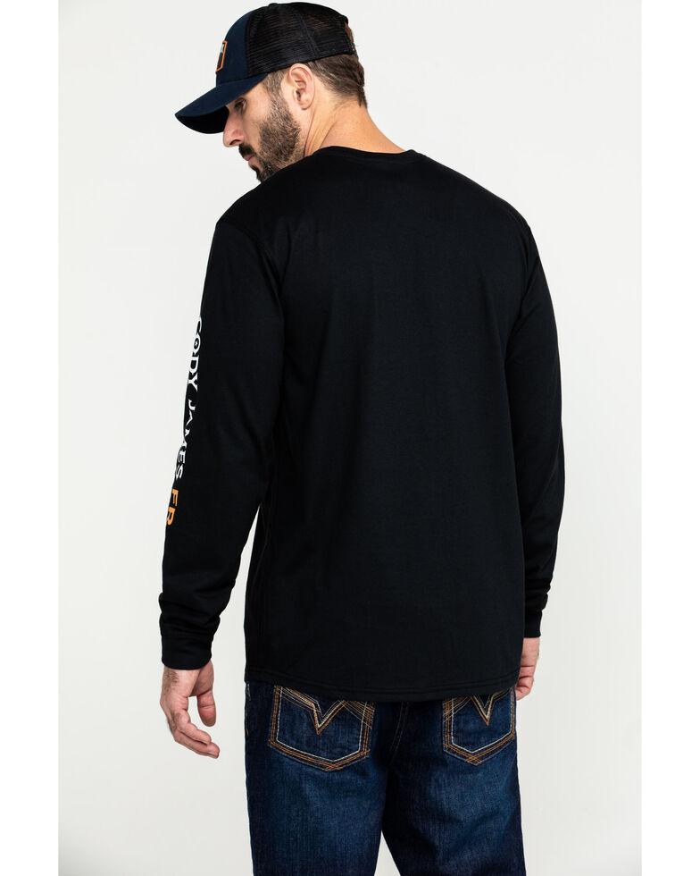Cody James Men's FR Logo Long Sleeve Work Shirt , Black, hi-res