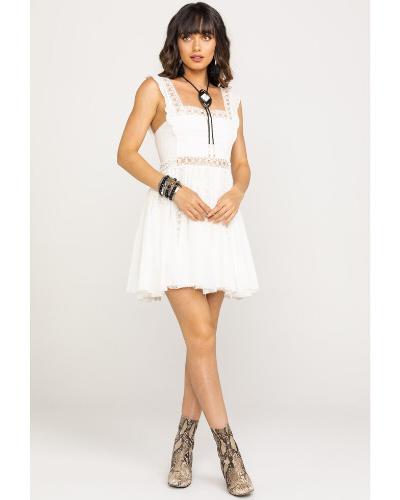 Free People Women's Verona Dress, Ivory, hi-res