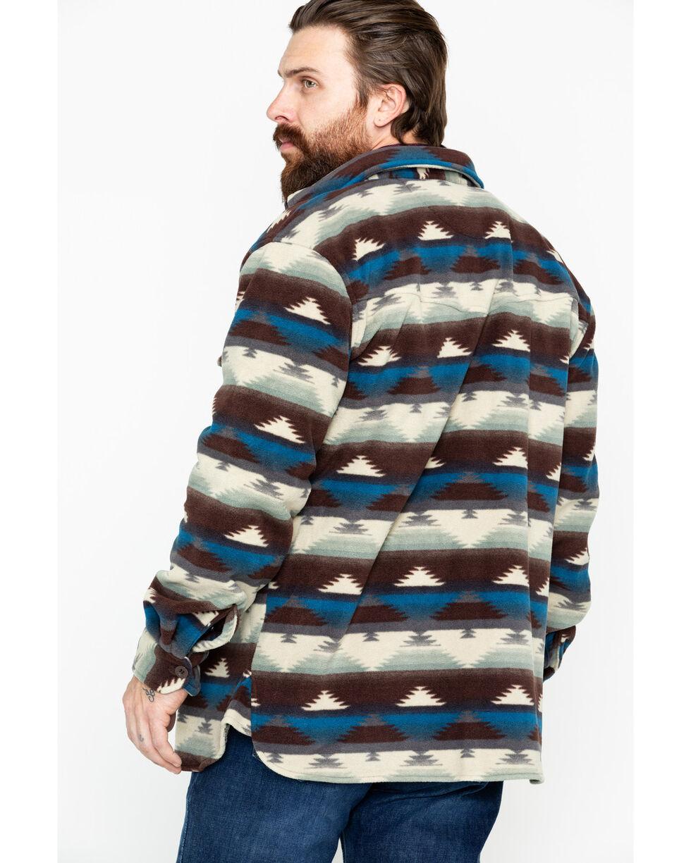Outback Trading Men's Aztec Fleece Indy Big Shirt Jacket, Natural, hi-res