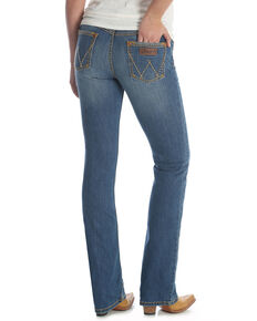 Wrangler Retro Women's Medium Wash Mae Bootcut Jeans , Blue, hi-res