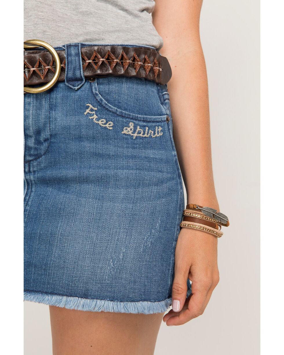 Idyllwind Women's Free Spirit Denim Skirt, Blue, hi-res