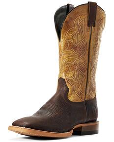 Ariat Men's Reacher Tobacco Western Boots - Wide Square Toe, Brown, hi-res