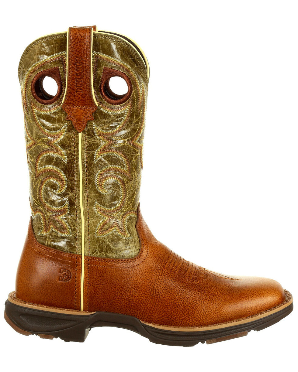 Durango Women's Ultr-Lite Western Boots - Square Toe, Chocolate, hi-res