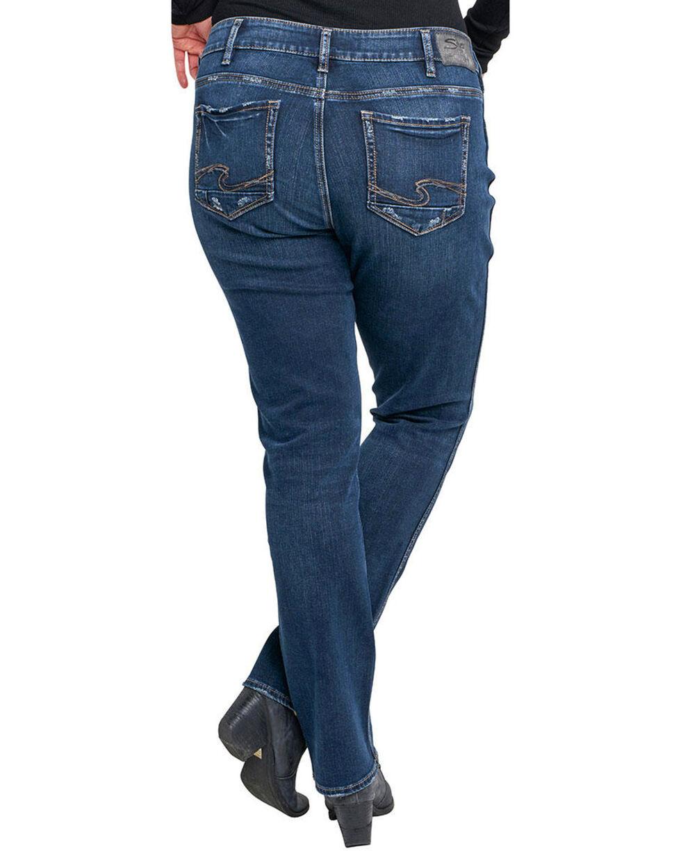 Silver Women's Elyse Rinse Wash Jeans - Plus, Indigo, hi-res