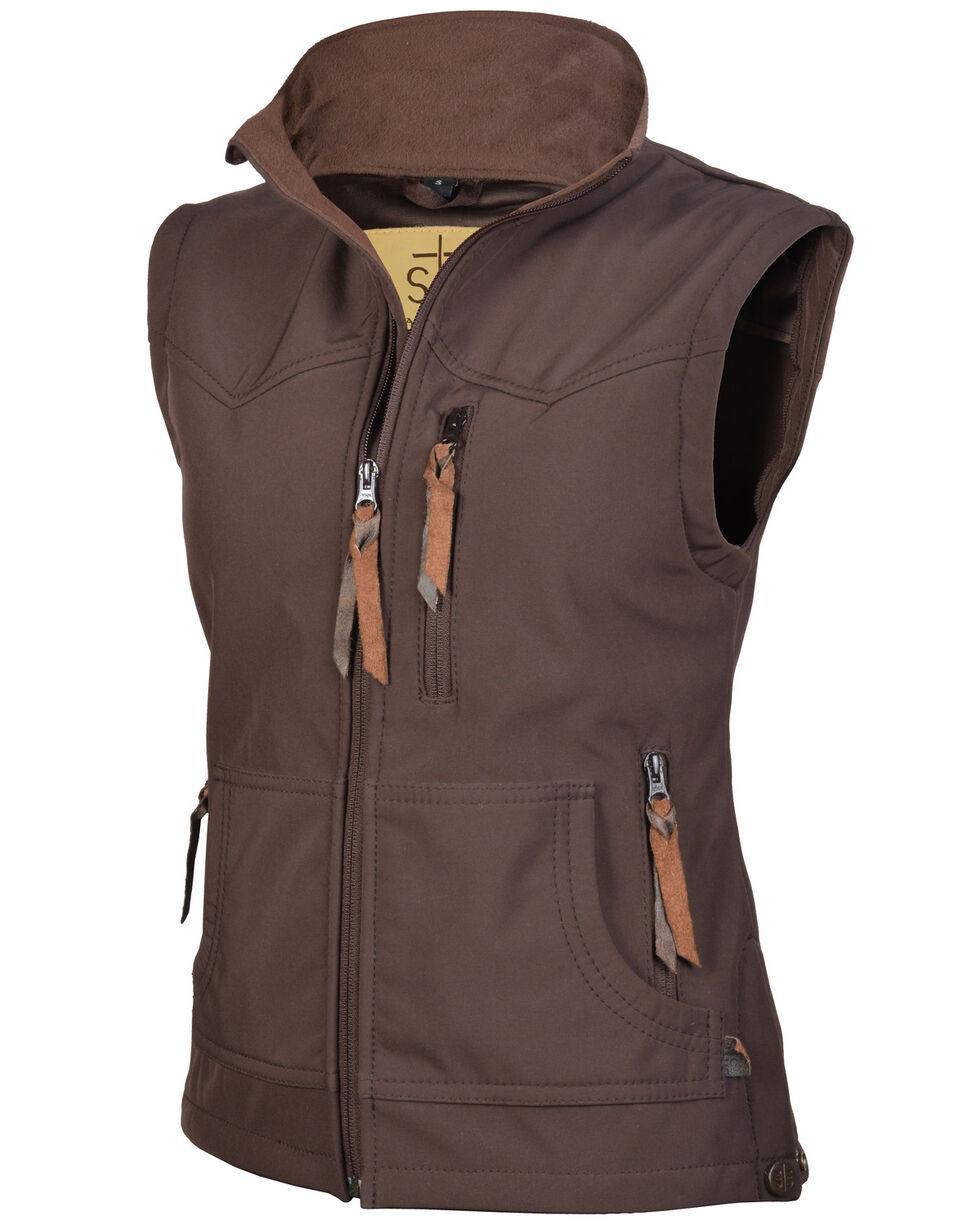 STS Ranchwear Women's Brown Barrier Zip Vest , Brown, hi-res