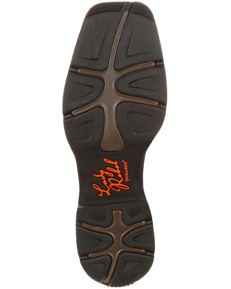 Durango Women's Rebel Waterproof Western Work Boots - Composite Toe , Brown, hi-res