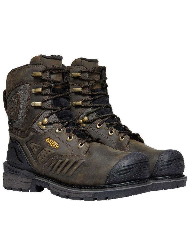 Keen Men's Philadelphia Waterproof Work Boots - Composite Toe, Brown, hi-res