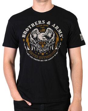 Brothers & Arms Men's American Eagle T-Shirt, Black, hi-res