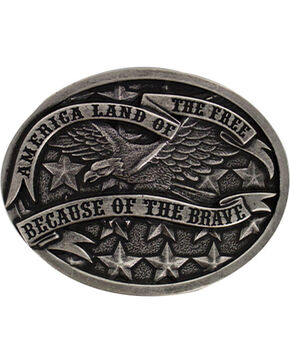 Cody James Men's America Belt Buckle, Silver, hi-res