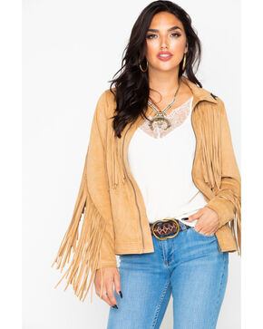 Idyllwind Women's Starlight Suede Jacket , Camel, hi-res